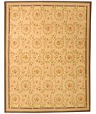 RugStudio presents Due Process Aubusson Rouen Ivory-Denim Flat-Woven Area Rug